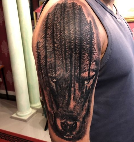 Lobo cover tattoo papamore